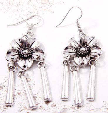 Earrings Dangling Flower