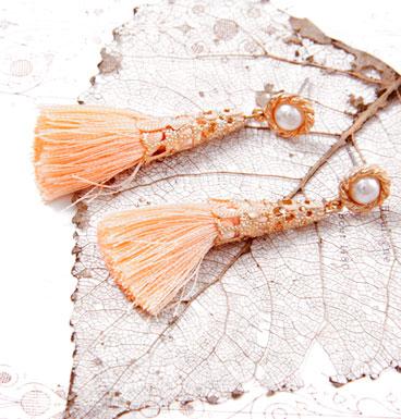 Earrings Tassel and pearl