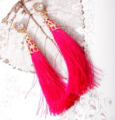 Earrings Tassel and Strass