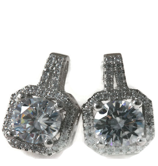 Earrings Squared Diamond
