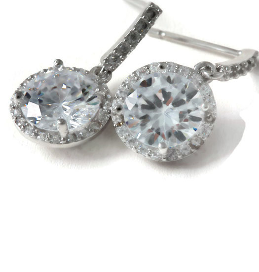 Oorbellen Dangling Diamond