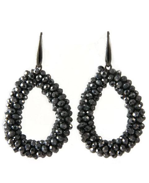 Earrings Beaded Dropshape
