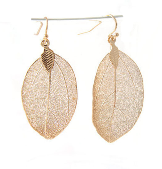 Earrings Natural Leaf Small