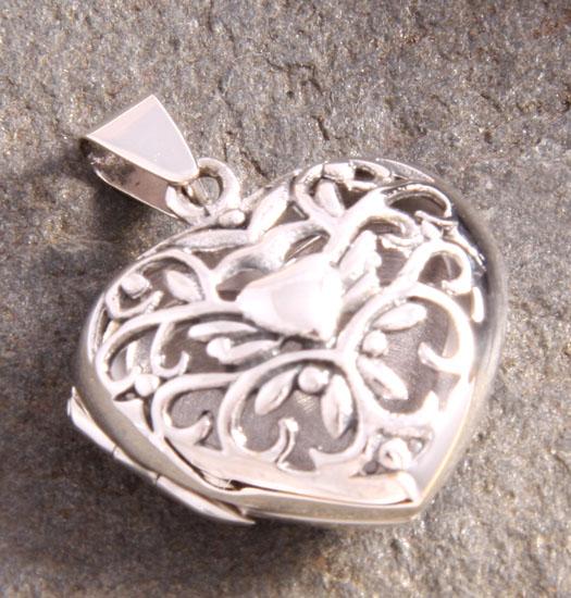 Zilveren Medaillon Filligrain Heart