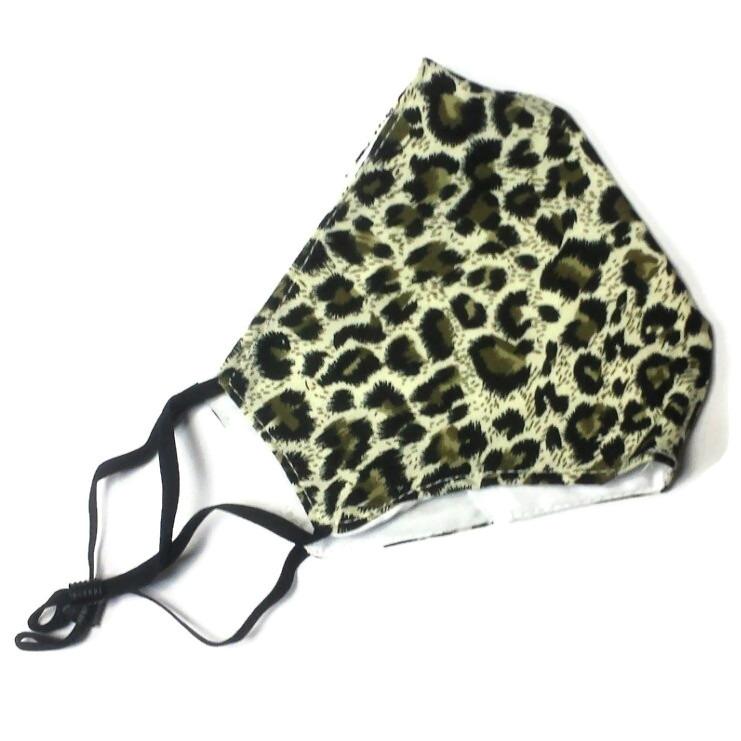Mask panther print green