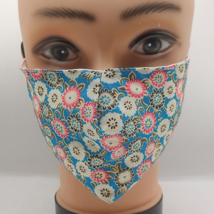 Mask Flowers Blue
