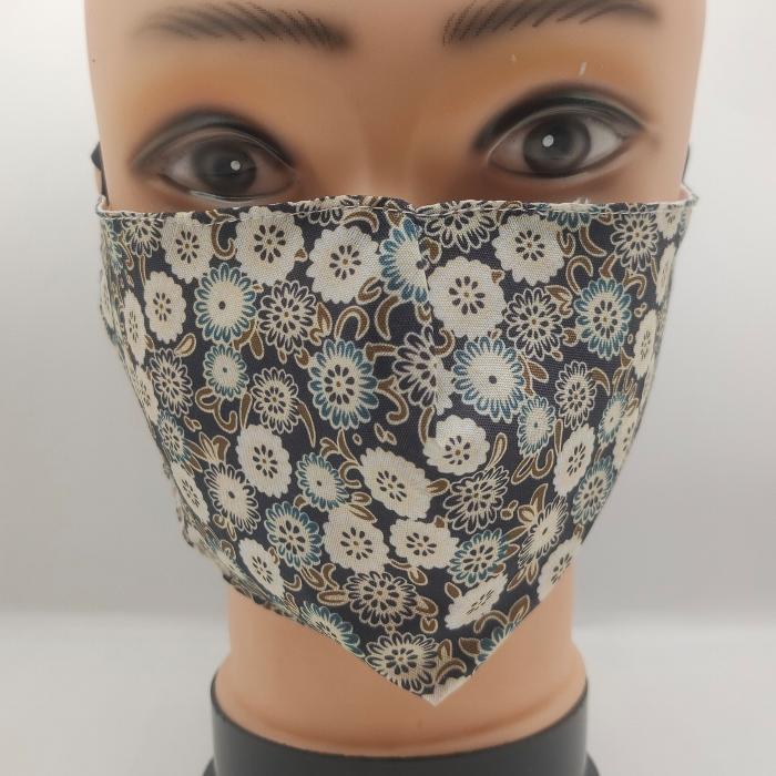 Mask Flowers Black