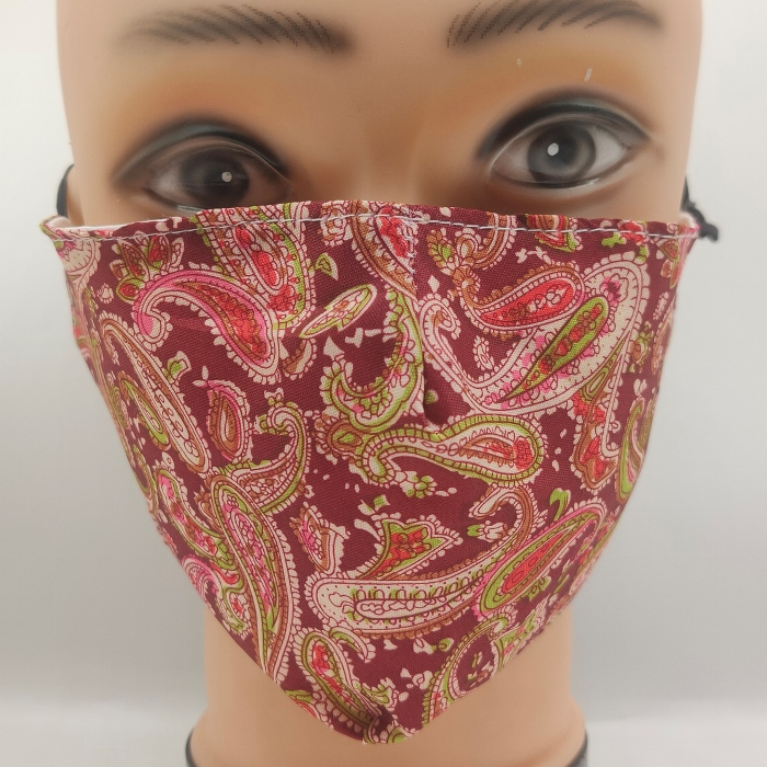 Mask Fancy Paisley red