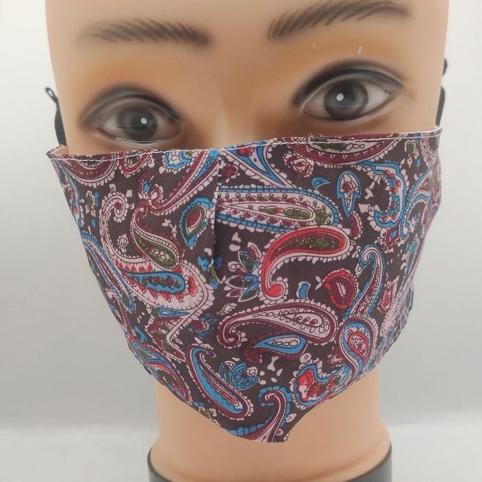 Mask Fancy Paisley Black & Blue