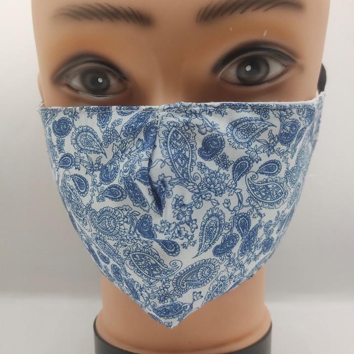 Mask Pretty Paisley Delft Blue