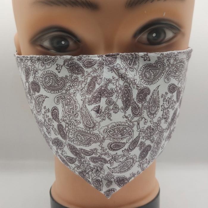 Mask Pretty Paisley Grey