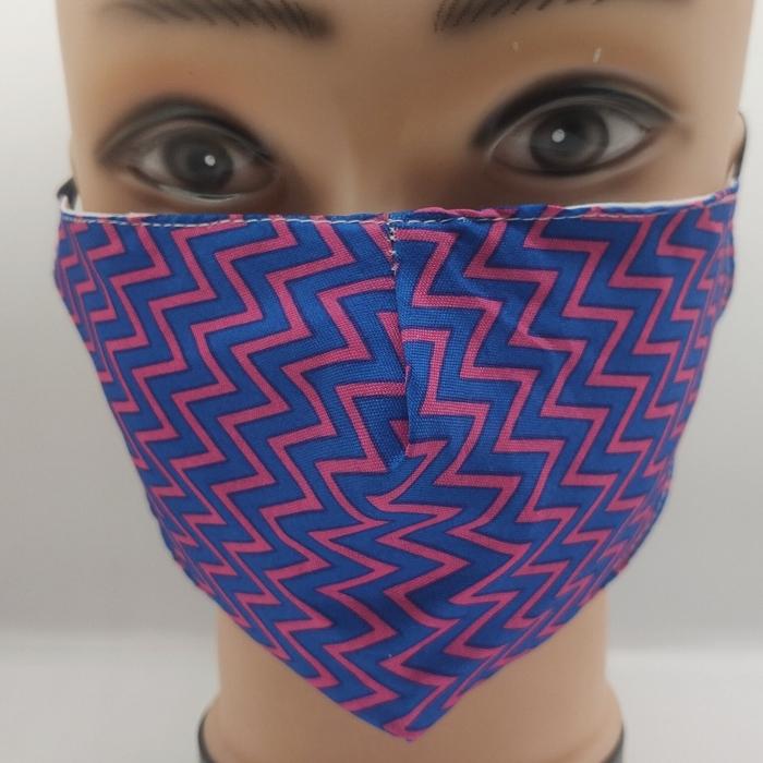 Mask Zig Zag blue