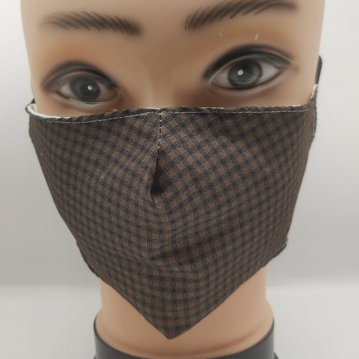 Mask checkered brown