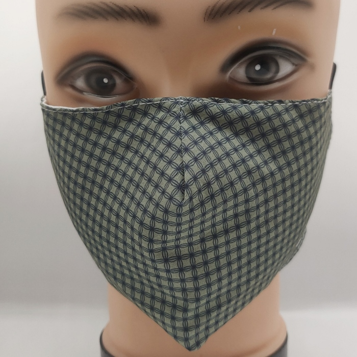 Mask checkered green