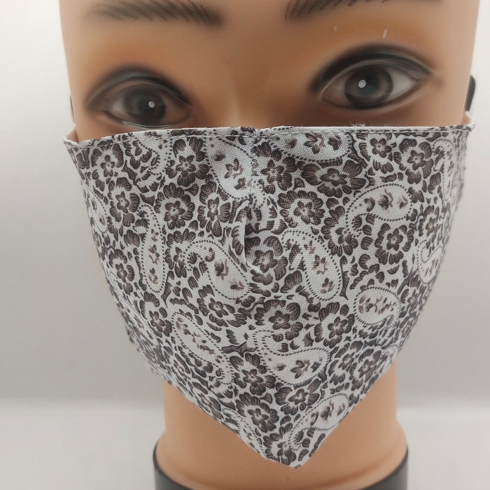 Mask Paisley & forget me not black