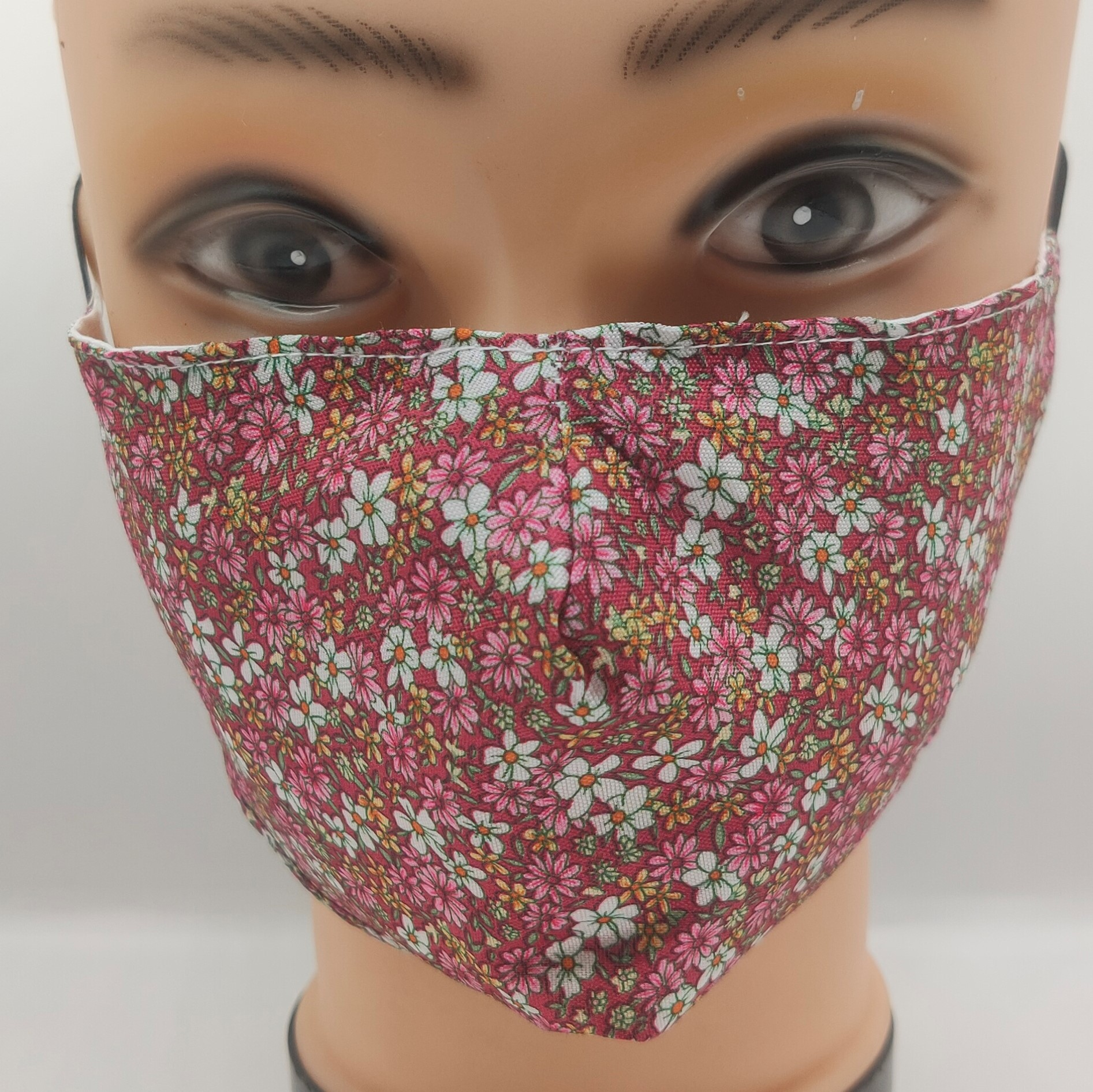 Mask Sweet flowers pink & red