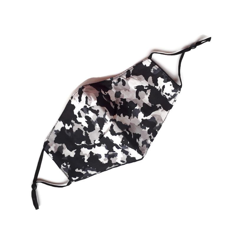 Mondkapje Camouflage grijs