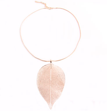 Ketting Natural Leaf - Snake chain
