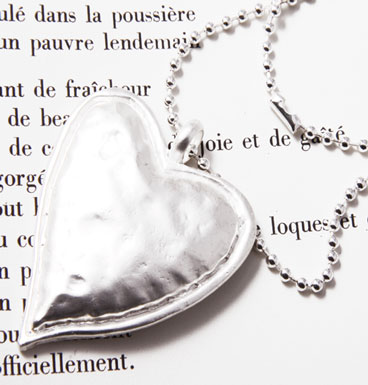 Necklace My big silver heart