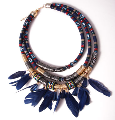 Necklace Feathered Spirit