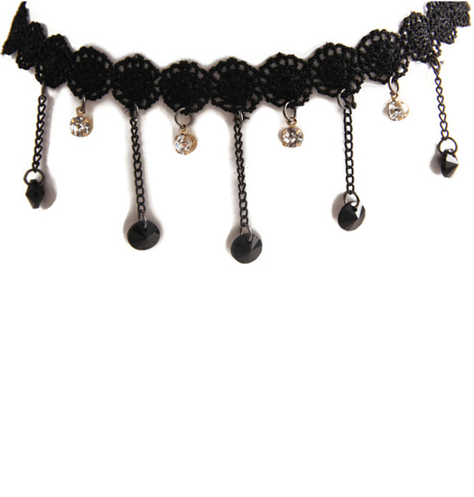 Choker Lace and Beads