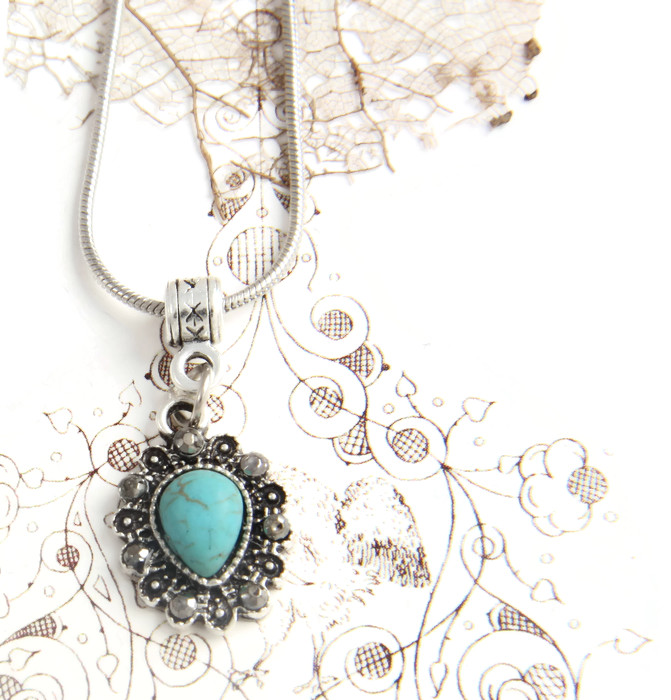 Necklace Turquoise & Marcasite