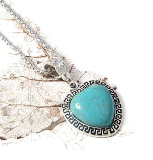 Necklace Turquoise Heart
