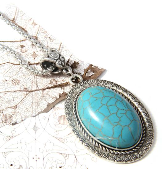 Necklace Turqoise Ovalu