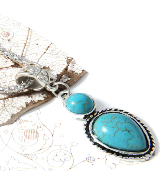 Necklace Turquoise Dewdrop