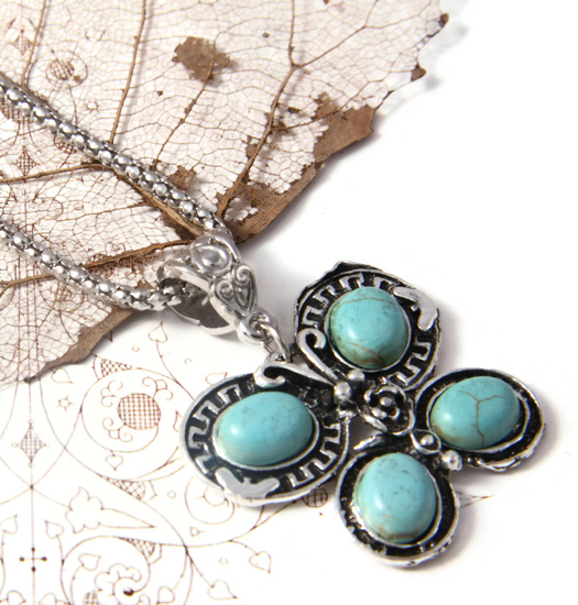 Necklace Turquoise Butterfly