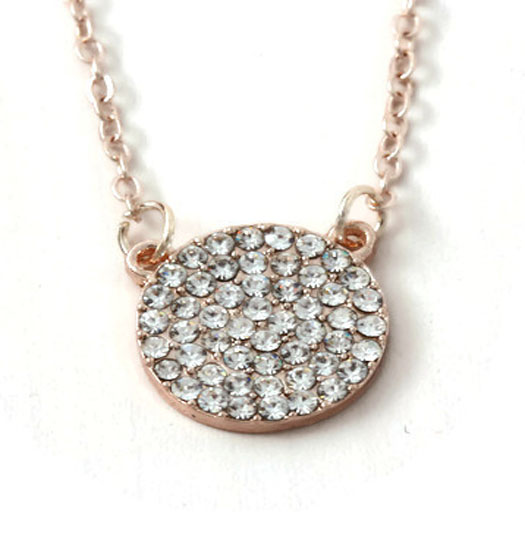 Necklace Circle of Sparkles
