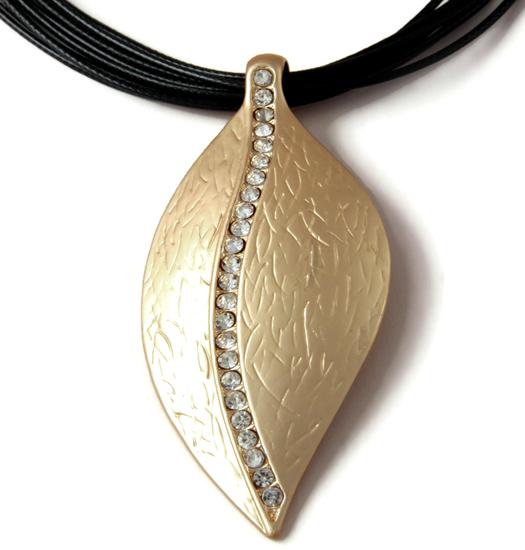 Necklace Sparkling Leaf