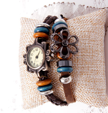 Pull rope watch Flower