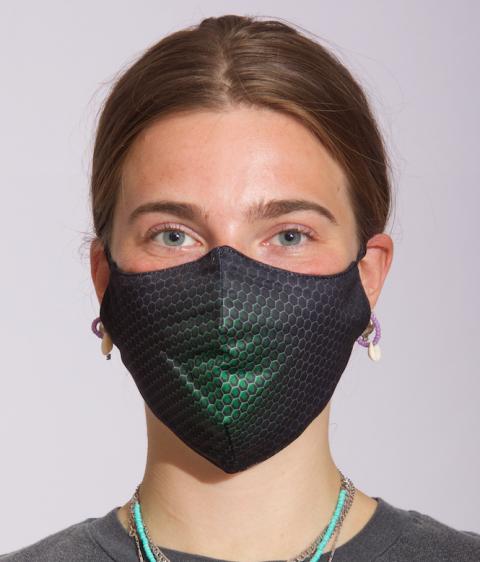 Mask Dots green