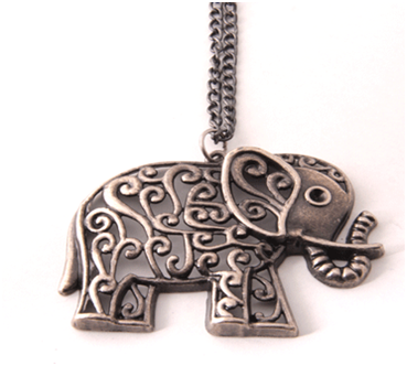 Necklace Retro Elephant