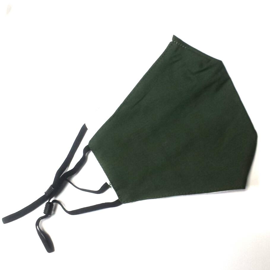 Mondkapje army green Effen