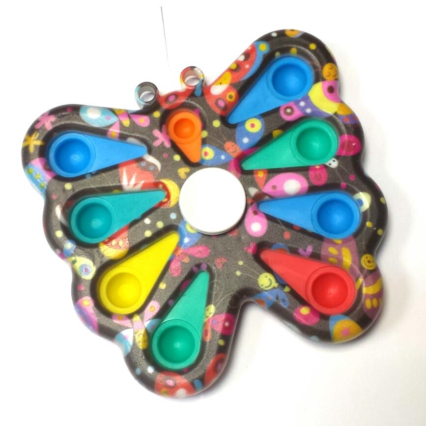 Grote vlinder spinner+8 pop it print