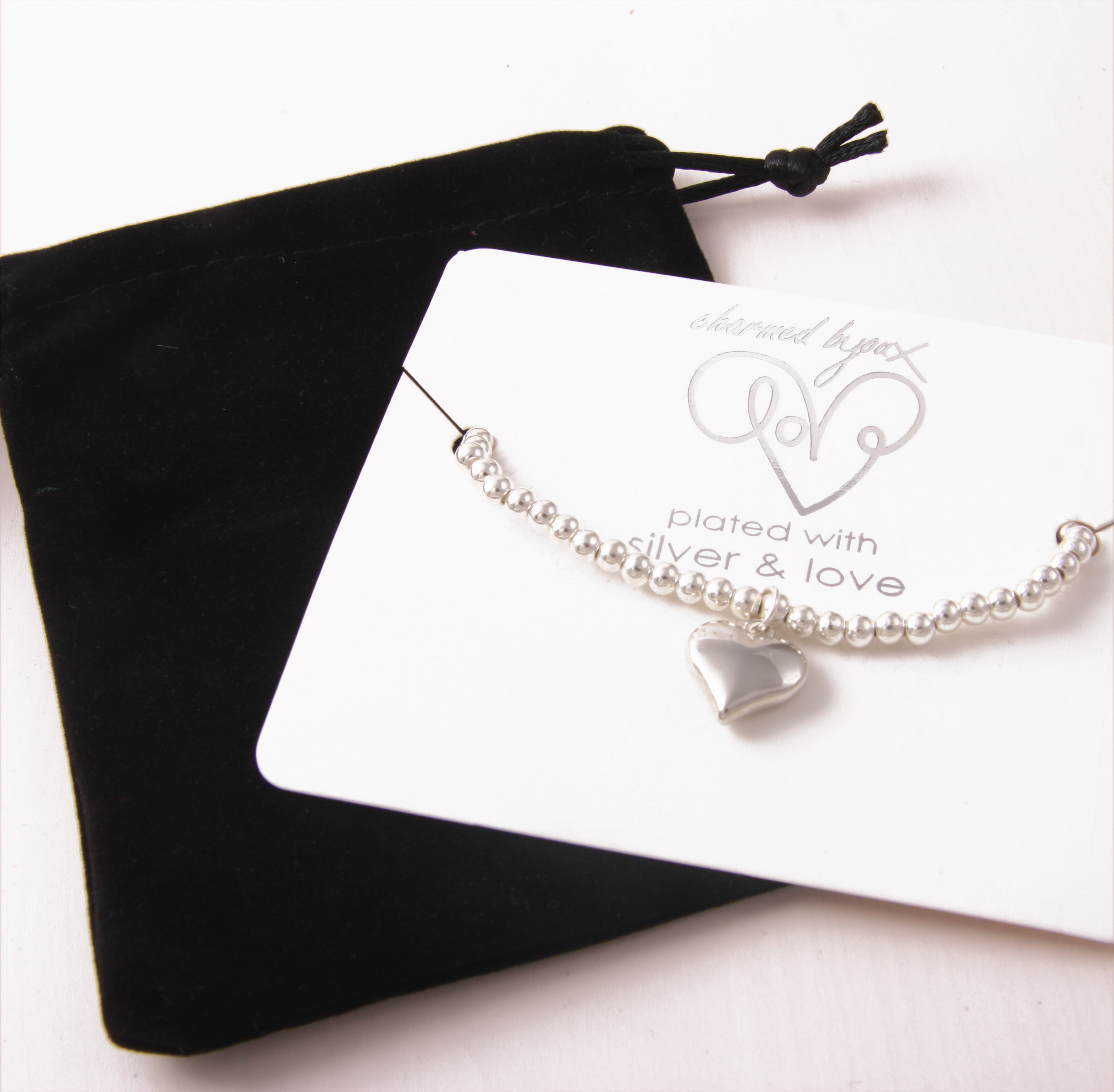 Bracelet silver plated - lock and key