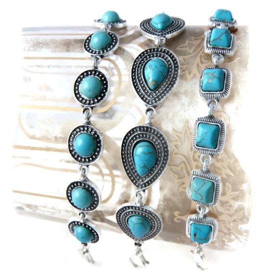 Armbanden turquoise