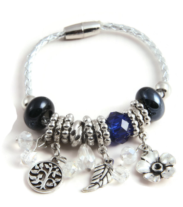 Armband Blue, beads and charms