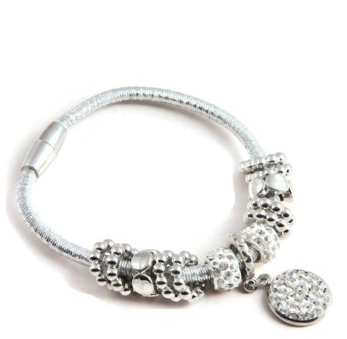 Armband Charms and strass cirle