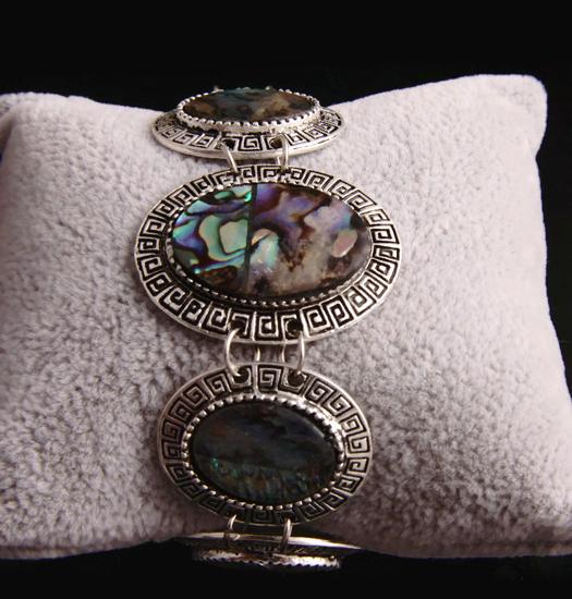 Link Bracelet Mother of Pearl - oval