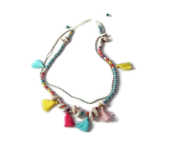 Ibiza Ketting Kauri-shell and color
