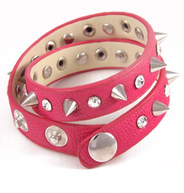 bracelet wrap spike & strass