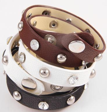 bracelet wrap strass & studd