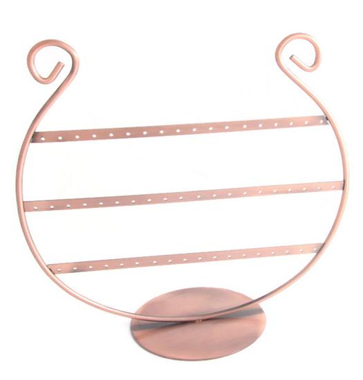 harp shaped earring display