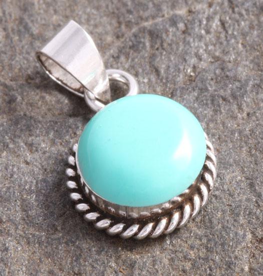 Zilveren Luck Charm Hanger Turquoise Steen