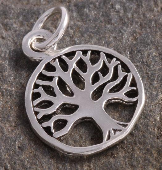 Zilveren Luck Charm Hanger Tree of Life