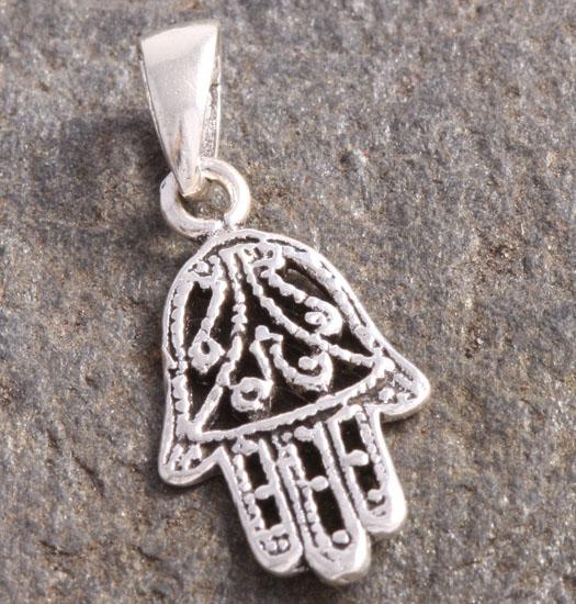 Zilveren Luck Charm Hanger Hand van Fatima