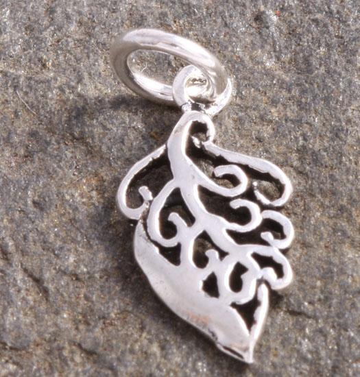 Zilveren Luck Charm Hanger Blaadje